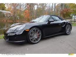 porsche 911 convertible black 2014 porsche 911 turbo cabriolet in black 173485 nysportscars