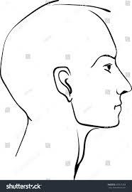hand drawn man profile profile face stock vector 410411263