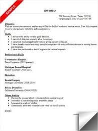 Sample Dental Resume by Dental Resume Sample Resumecompanion Com Dentist Resume