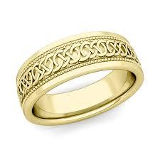 Gold Wedding Rings For Men by Custom Milgrain Celtic Wedding Ring Band For Men In Gold And Platinum