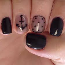 sheer black anchor u0026 dot nail art design nail art pinterest