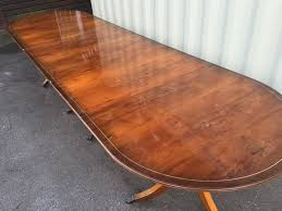 Yew Dining Table And Chairs 11 5 Ft Grand Burr Yew Tree Pedestal Dining Table Cc