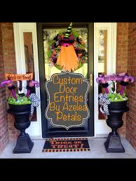 custom halloween door entrance decor spooky front door