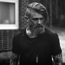 mens hairstyles undercut side part undercut with beard haircut for men 40 manly hairstyles