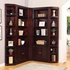 Low Corner Bookcase Shelves Sublime House Boston Corner Bookcase Merlot