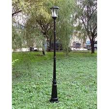 Solar Lamp Post Lights Outdoor by Gama Sonic Single Solar Lamp Post Walmart Com
