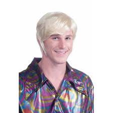Disco Halloween Costume 70 U0027s Blonde Disco Guy Wig Halloween Costume Accessory