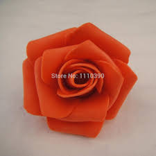 5cm artificial foam pe flowers head real touch roses heads for