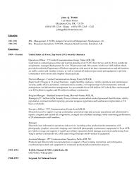 Security Manager Resume Samples by Military Resume Quality Manager Resume Example About Military