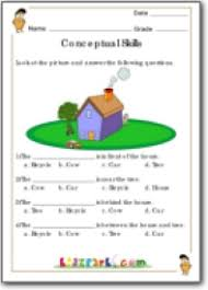 worksheet for grade 1 concepts skill development activity