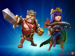 clash of clans hd wallpapers barbarian king vs archer queen wallpaper coc wallpaper games