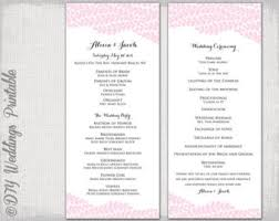 Order Wedding Programs Red Wedding Program Template Diy Printable Order Of Ceremony
