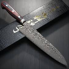vg10 kitchen knives kanehiro vg10 nickel damascus black finish gyuto chef knife 210mm