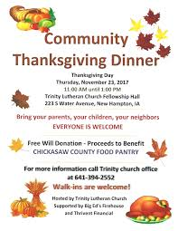community thanksgiving dinner in new hton kcha news