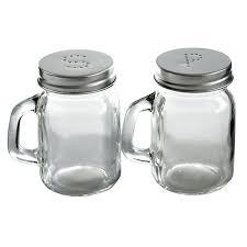salt and pepper shakers grant howard glass mini mason 4 ounce salt and pepper shaker set 50767