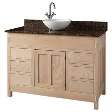 Unfinished Bathroom Vanity Base 48 Unfinished Mission Hardwood 6 Drawer Vessel Sink Vanity
