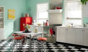 Retro Kitchen Design by Retro Kitchen Designs Considerable Green Painted Wooden Kitchen