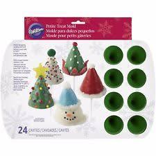 wilton silicone christmas tree cone hat petite 24 cavity mini