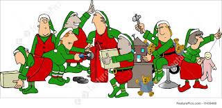 santa u0027s elves making toys clipart clipartxtras