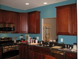 Blue Kitchen Cabinets Wall Kitchen With Cherry Cabinets Stunning Kitchen With Cherry