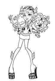 598 Best Monster High Images On Pinterest Monsters Colouring Coloring Pages For High