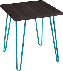 Espresso Accent Table Metal End Table Legs Home Table Decoration