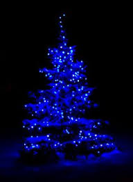 blue christmas lights ultra blue christmas tree lights reflecting the snow covered