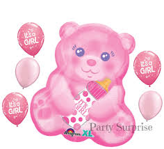 balloons and teddy bears baby girl teddy balloons baby girl shower decorations