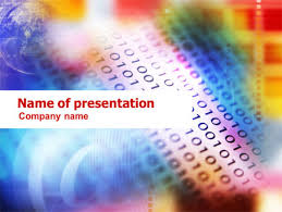 information technology theme presentation template for powerpoint