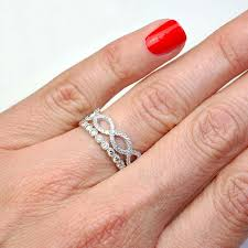 Stacked Wedding Rings by Best 25 Infinity Band Ideas On Pinterest Twisted Wedding Bands