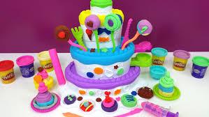 play doh cake mountain playset sweet shoppe birthday cake