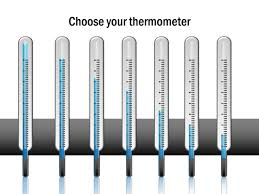 powerpoint slide thermometer diagram 3d blue 7