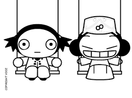 pucca swing friend coloring pages hellokids