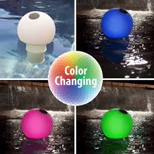 solar globe chlorinator and color changing pool light