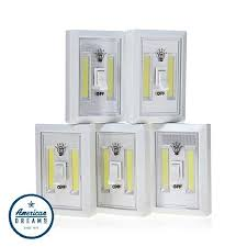 cob led wireless night light with switch promier cob led wireless light switch 5 pack 8474478 hsn