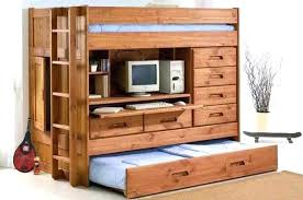 solid wood twin loft bed with desk and storage image of bunk