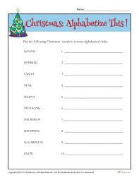 christmas words activity printable alphabetical order worksheet