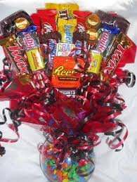 candy basket ideas gift ideas bouquet with drinks