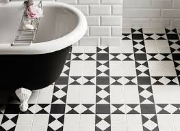 Diy Bathroom Floor Tile - remarkable victorian black and white bathroom floor tiles for your