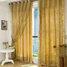 Gold Color Curtains High Quality Gold Color Polyester Embroidery Living Room