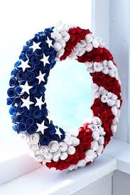 patriotic wood curl wreath pier 1 imports make it yourself