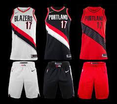 Portland City Flag Trail Blazers Uniforms Portland Trail Blazers
