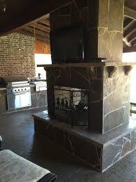 outdoor fireplaces beautiful backyard living frisco tx