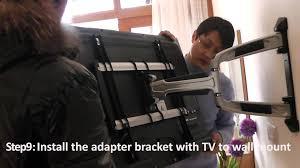 Tv Wall Mount Hardware Lpa31 463 Aluminum Full Motion Tv Wall Mounts Installation Video