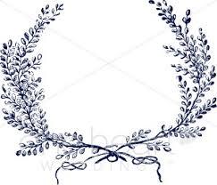 blue wreath clipart wedding leaf