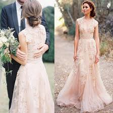 budget wedding dresses uk vestidos de novia v cap sleeves pink wedding dresses uk lace