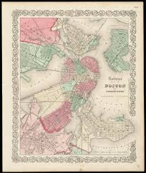 Map Of Boston by Colton U0027s Map Of Boston And Adjacent Cities
