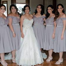 grey bridesmaid dresses bridesmaid dress grey lace chiffon bridesmaid dresses tea