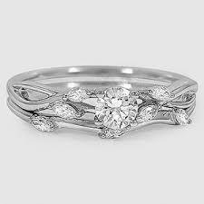 white gold wedding sets 18k white gold willow bridal set 1 4 ct tw brilliant earth