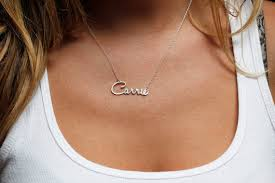 carrie name necklace carrie silver necklace carrie name necklace delicate name